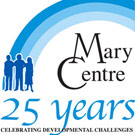 Logos for Rose of Sharon, Mary Centre, and Society of Sharing
